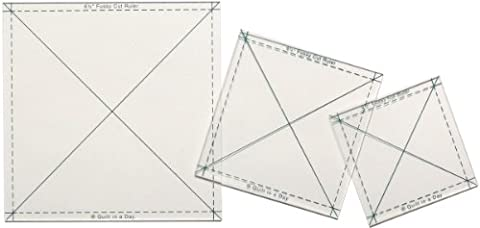 Quilt In A Day Fussy Cut Ruler Set-3/Pkg
