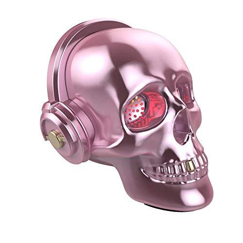 Festival-Maske Schädel Bluetooth Lautsprecher LED Wireless Skeleton Lautsprecher Super Bass Stereo Sound Cooles Design Mit Augen Licht Für Halloween Einzigartiges Geschenk Home Party Reisen / ()