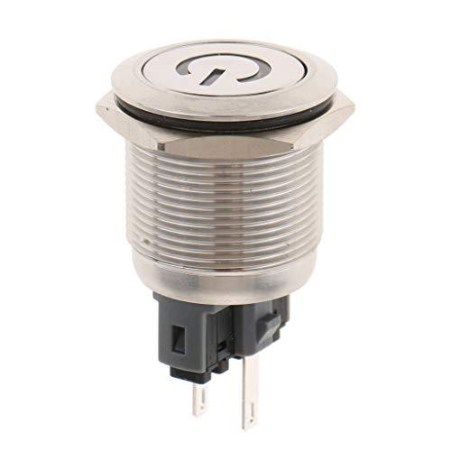 Homyl LED Panel Dash Light Indicator Warning Signal Lamp Car Boat Van 22mm 12v Ip67 - C