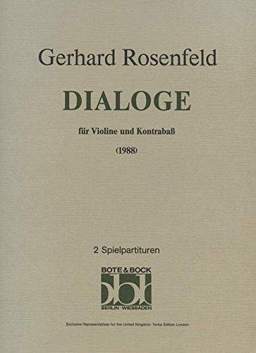 Dialoge: Violine und Kontrabass. Spielpartitur.