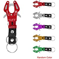 TiooDre Outdoor Survival Hook Buckle Portable Aluminum Carabiner D-Ring Key Chain Clip Hook for Home, RV, Camping, Fishing, Hiking, Traveling and Keychain