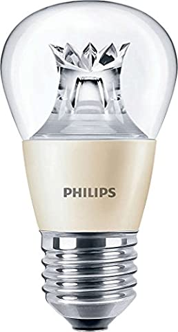 Philips Master Ampoule LED en forme de balle de golf brillante à intensité réglable avec culot à vis Edison E27 - 3,5 W (équivaut à 25 W), New Single, E27 (Edison Screw)
