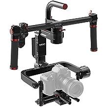 gudsen Moza Lite II Premium Kit motorizado de 3ejes Handheld Gimbal Estabilizador de la cámara de vídeo para cámaras sin espejo y cámaras réflex, Black Magic