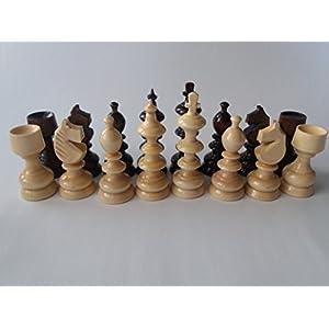 Neue große, riesige schöne, spezielle Handspindel handarbeit europäischen Hazel Holz Schach figuren, König ist 10,7 cm
