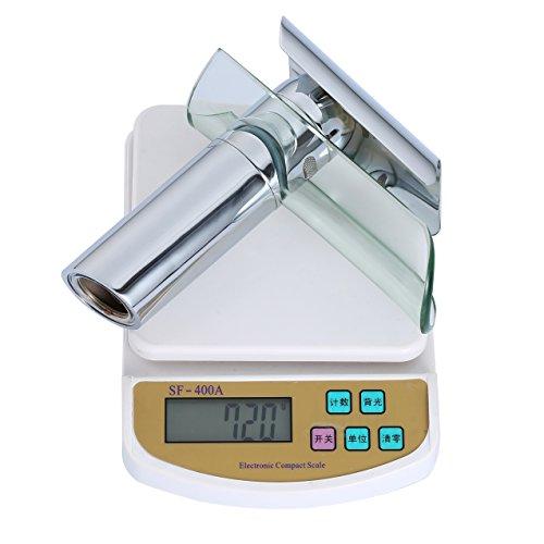 Auralum Wasserhahn Glas Spüle Waschtisch Waschtischarmatur Armatur für Bad -
