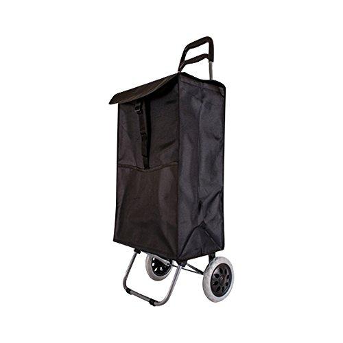 47 Tasche (Einkaufstrolley von Alexander Graham | Hochwertig, leicht, große Kapazität, 47 Liter Tasche | 2 Rollen faltbarer Einkaufstrolley mit Griff Schwarz)