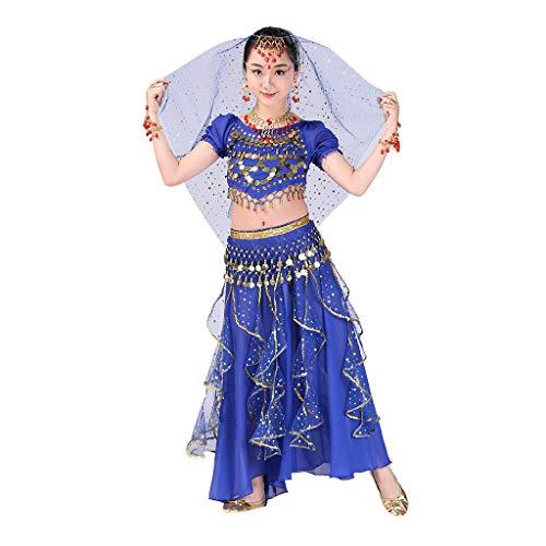 Bauchtanz Kostüm Set,Covermason Handgefertigt Kinder Mädchen Bauchtanz Kostüme Kinder Bauchtanz Indisches Ägypten Tanzen Kleider Karneval Cosplay Kostüm (Indischen Jungen Baby Kostüm)