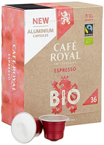 Café Royal Espresso Bio 36 Nespresso kompatible Kapseln aus Aluminium, Intensität 7/10