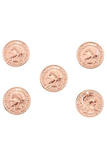 Angel Malone 5x 15mm DQ Rose Gold leicht Coin Anhänger Charm Schmuck Ergebnisse