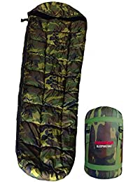 RhinoKraft Jungle Print Hiking & Camping Waterproof Ultra Soft Furred and Warm Sleeping Bag