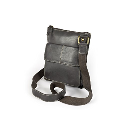 Eastern Counties Leather - Claire - Borsa a mano con tasca frontale - Donna Marrone chiaro