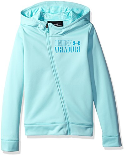 Under Armour Girls' Armour Fleece Full Zip Hoodie, Blue Infinity/Blue Shift, Youth X-Small