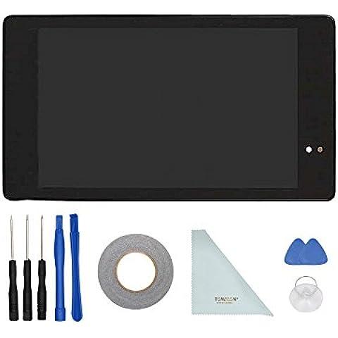 TONELON di ricambio Schermo LCD touch screen digitizer + telaio di montaggio per Tablet Asus Google Nexus 720132nd Gen WIFI + nastro adesivo doppio lato 3mm + Strumenti di apertura + Panno Pulito