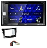 caraudio24 JVC KW-V250BT 2DIN CD DVD USB Bluetooth MP3 Autoradio für SSangYoung Tivoli ab 15 Piano-schwarz