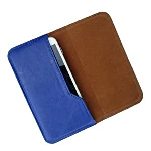 i-KitPit : PU Leather Flip Pouch Case Cover For Lava Xolo A500 (BLUE)