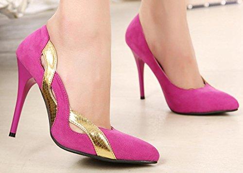 YCMDM Chaussures à talons hauts Pointu Femmes Nouveau Printemps Mode Orange Rose Rouge 35 36 37 38 39 Rose Red