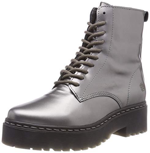 Apple of Eden Damen Bali Combat Boots, Silber (Plata 19), 41 EU