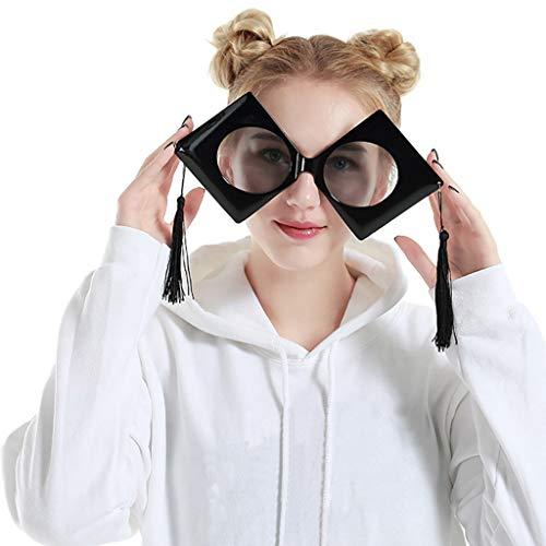 Yazidan Lustige verrückte Kostüm Brillen Neuheit Kostüm Party Sonnenbrillen Zubehör Partybrillen Bunt Gitterbrille Spaß Spass Brille Brillen Party Brille