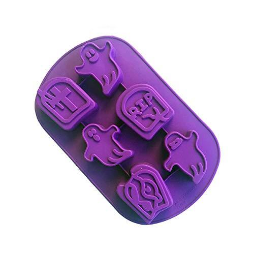 Silikonform Halloween-Muffa für Seife Handgemacht, für Muffins, Schokoladenbraun (Halloween Di Biscotti)