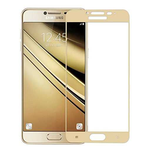 Sunny Fashion Hd+ Crystal Clear Full Screen Coverage Tempered Glass Screen Protector For Samsung Galaxy J7 2015 - Gold