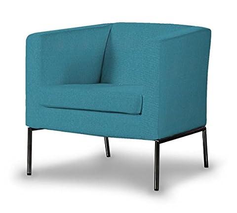 Dekoria Fire Retardant IKEA KLAPPSTA Housse de Fauteuil–Turquoise/Bleu