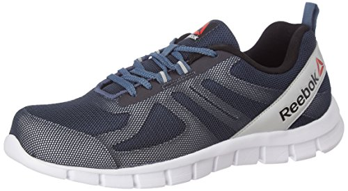 Reebok Men's Super Lite Slate, Gry, Blk, Slvr and Wht Running Shoes - 9 UK/India (43 EU) (10 US)