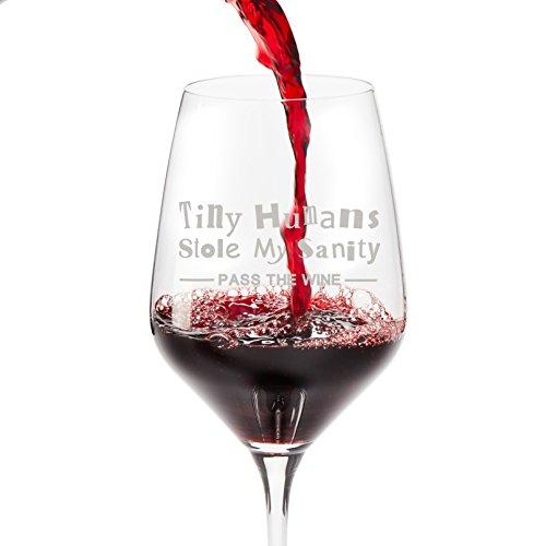 Bicchiere da vino in confezione regalo-524,5gram design bicchiere di vino con scritta divertente; unico San Valentino, compleanno, Natale, festa della mamma, festa del papà, FO Stole My Sanity