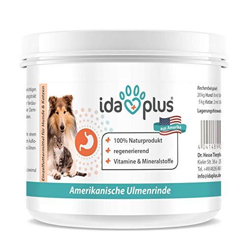 Ida Plus - Ulmenrinde Hund & Katze - 50 g Pulver (Fein gemahlen) - Amerikanische Ulmenrinde für Hunde und Katzen - Beruhigung der Verdauungstätigkeit - Vitamine & Mineralstoffe - 100% Naturprodukt
