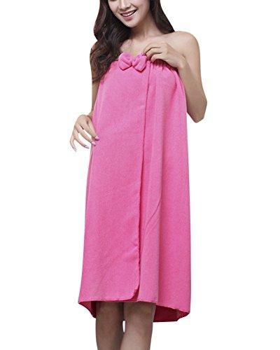 ZiXing Pareo de Bain Femme Serviette de Bain Robe Sarong Seche Spa Serviette a Sauna RoseRed OneSiz
