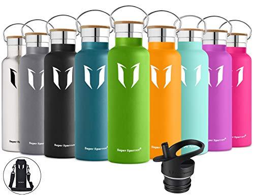 Super Sparrow Trinkflasche Edelstahl Wasserflasche - 750ml - Isolier...