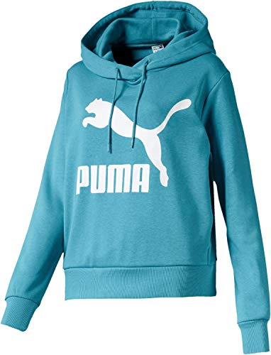 Puma Damen Classics Logo Hoody Pullover, Milky Blue, XS Classic Logo Hoody