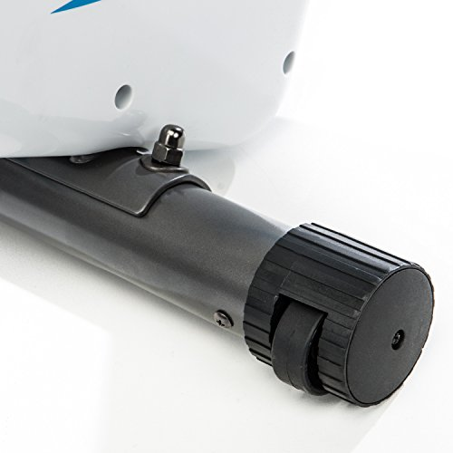 skandika Foldaway X-2000 Fitnessbike zusammenklappbar mit Bluetooth, Tablet Halterung, Rückenlehne, Multifunktionscomputer, Handpulssensoren und 16-stufiger, computergesteuerter Widerstand - 5