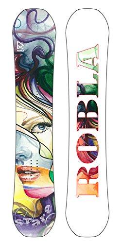 Robla stare, freeride snowboard donna, viola/verde/giallo/grigio, 152