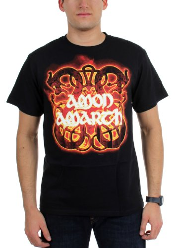 AMON AMARTH - Amon Amarth - Herren Feuer Pferde T-Shirt Black