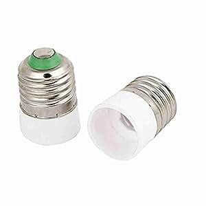 2pcs AC110-220V E27 bis E14 Sockel-Licht-Lampen-Halter-Adapter-Konverter