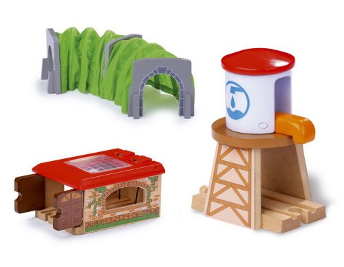 Small Foot Design 5801, Eisenbahn Zubehör, 3er Set - Spielzeug Zug-depot