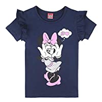 Disney Girl's Minnie Mouse T-Shirt, Blue (Navy Blazer 776), 8 Years