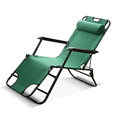 Heruai Outdoor Leisure Leisure Fingering Chaise longue Lits simples Lits de bureau Lit d'accompagnement Scalability Chair Chaise multifonctionnel de lit , green