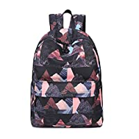 Acmebon Waterproof Stylish School Backpack for Boys and Girls Trend Print Casual Laptop Backpack Black Landscape 617