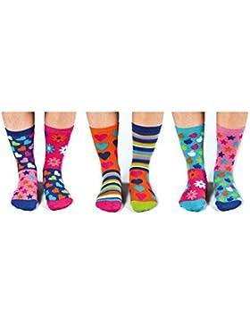 United Oddsocks - Box 6 dispari calzini per le ragazze - Hop Skip & Funk