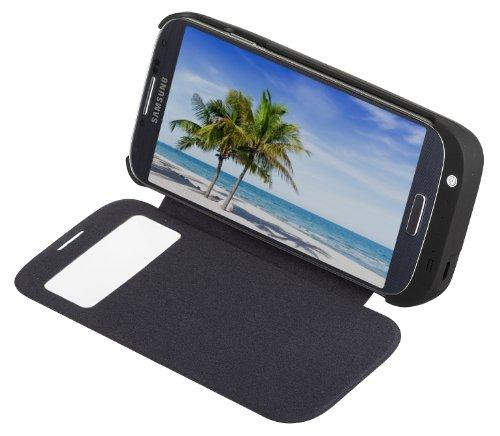 Kit KTBCGS4BK Schutzhülle mit Akku-Ladegerät (3700mAh) für Samsung Galaxy S4 schwarz