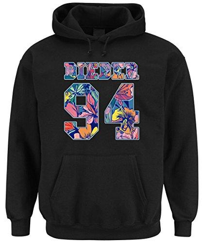 Bieber 94 Flowers Hooded-Sweater Black Certified Freak-M