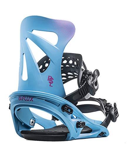 FLUX DSL Snowboard-Bindung für Herren 2020, Sky BluexPink, Large -