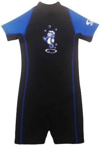 TWF Kinder Neoprenanzug, Seepferd, Blau, Gr. 1-3 Jahre (Herstellergröße:K0)