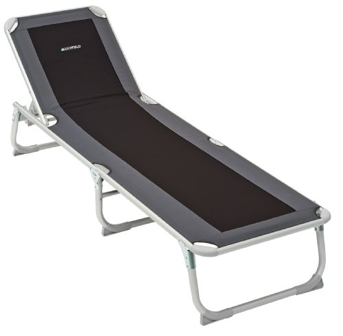 This foldaway sun lounger is great for outdoor trips and basking by the poolside. The product is one of the best-rated sun loungers on Amazon UK and many people love its portability and lightweight construction.