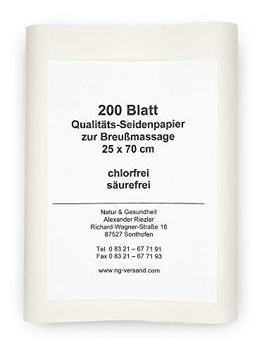 Seidenpapier zur Dorn Breuß Massage - 200 Blatt
