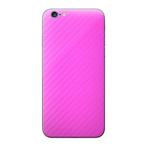 Cruzerlite Carbon Fiber Skin for the Apple iPhone 6 Plus - Retail Packaging - Orange (Back Only) Pink