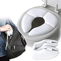 Tragbare Falten Kind Toilettensitz Warme Weiche haut Töpfchen Stuhlkissen Kissen Baby Training Wc Kinder Sicher Hygiene, weiß