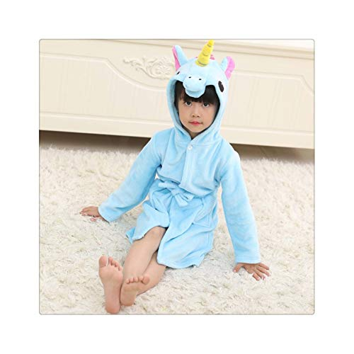 Children's Nightgown Flannel Cartoon Animal Shape Cosplay Boy Child Girl Bathrobe Baby Pajamas Home Service Halloween Party Gift 04 7T (Party Kostüme City Boy)