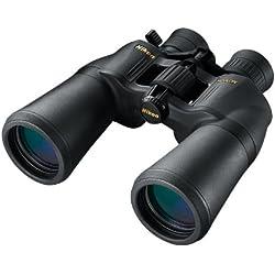 Nikon A211 10-22x50 Jumelles avec Zoom Intégré Grossissant jusqu'à 22 Fois (Adaptateur Trèpied Fourni)